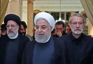 O presidente iraniano Hassan Rouhani Foto: HO / AFP 4-9-19