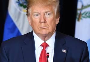 O presidente americano Donald Trump Foto: SAUL LOEB / AFP 25-9-19