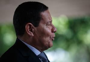 O vice-presidente Hamilton Mourão Foto: Daniel Marenco / Agência O Globo 7-3-19