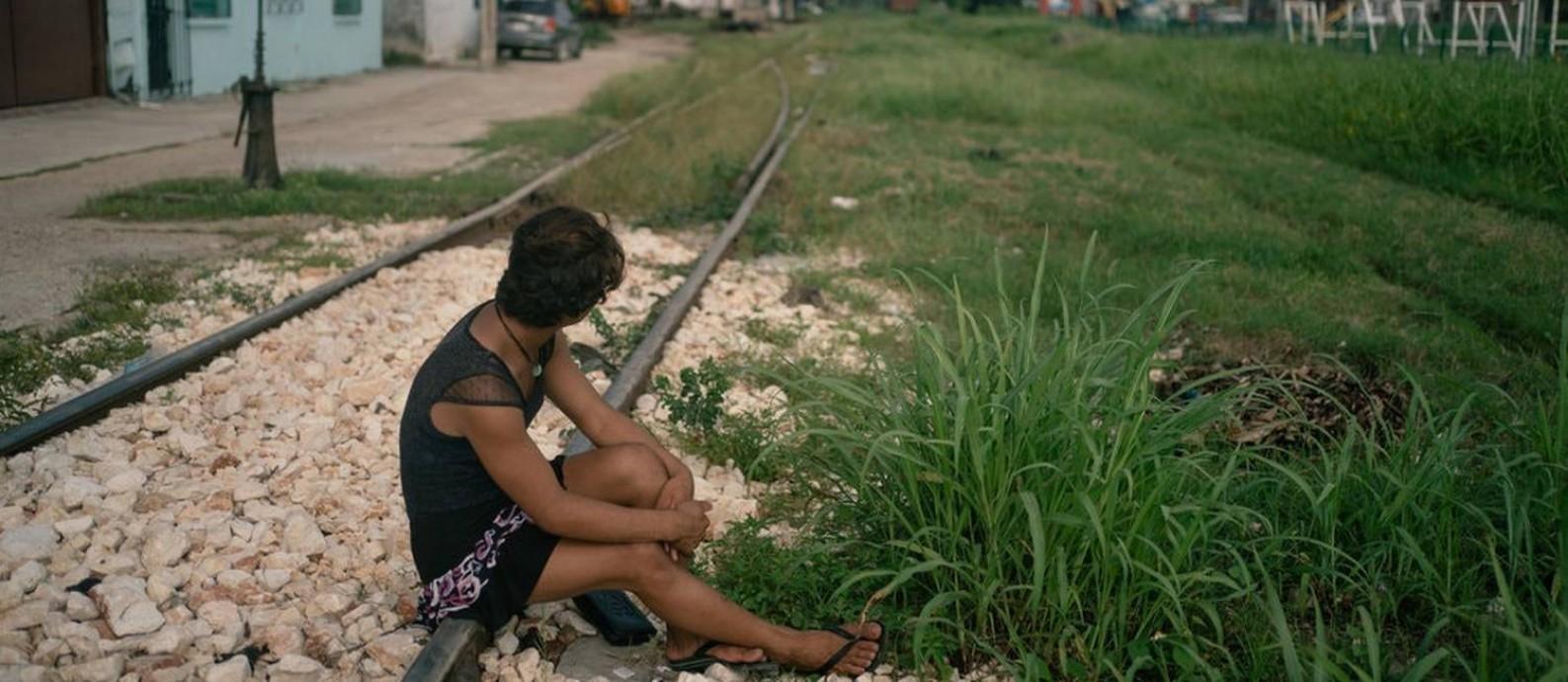 Dulce, uma migrante trangêsnero da Guatemala em Tenosique, México Foto: Luis Antonio Rojas / The New York Times