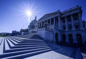 O Capitólio dos EUA, sede do poder legislativo americano Foto: ERIC BARADAT / AFP