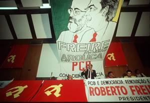 Campanha de Roberto Freire pelo PCB, no ano da queda do muro; partido rachou e mudou de nome duas vezes Foto: Carlos Wrede / 5-8-89