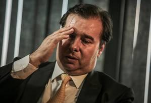 O presidente da Câmara dos Deputados, Rodrigo Maia (DEM-RJ) Foto: ANDRE COELHO / Agência O Globo