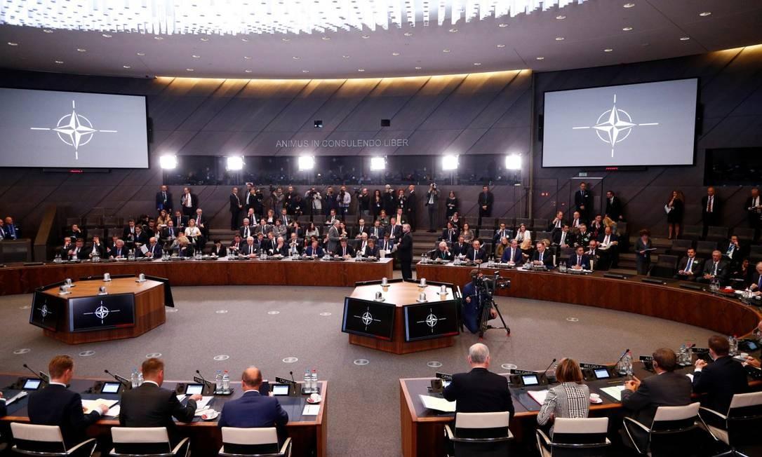 Visão geral da reunião ministerial da Otan em Bruxelas Foto: FRANCOIS LENOIR / REUTERS