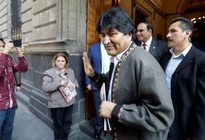 O ex-presidente da Bolívia, Evo Morales, em uma entrevista coletiva na Cidade do México Foto: LUIS CORTES / REUTERS