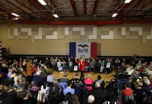 A candidata a presidente dos EUA Elizabeth Warren em um evento em Ottumwa, Iowa Foto: BRENNA NORMAN / REUTERS 15-12-19