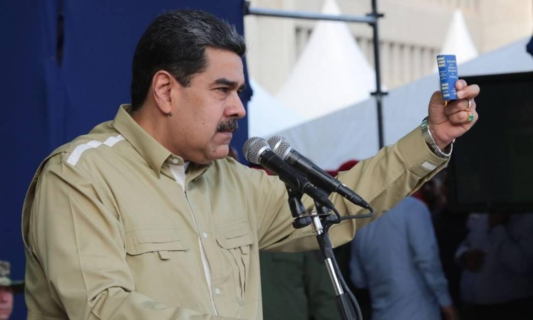 O presidente da Venezuela, Nicolás Maduro, em Caracas Foto: FRANCISCO BATISTA / AFP 28-12-19
