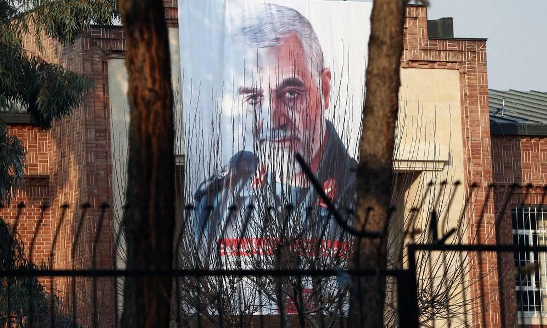 Foto do general Qassem Soleimani, chefe das Forças Quds, morto em um ataque aéreo americano Foto: WANA NEWS AGENCY / VIA REUTERS