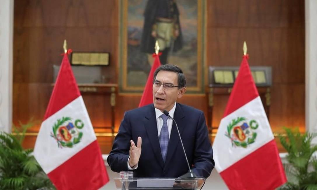 O presidente do Peru, Martin Vizcarra Foto: Divulgação via Reuters