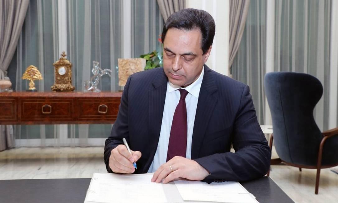 O novo primeiro-ministro do Líbano, Hassan Diab Foto: - / AFP