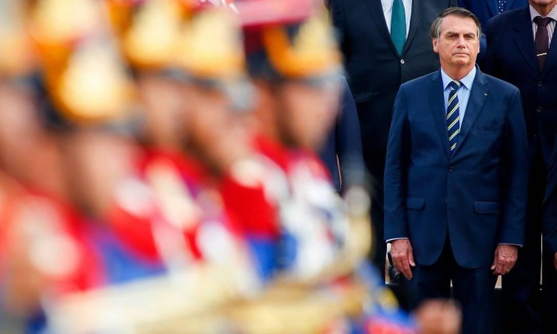 O presidente do Brasil, Jair Bolsonaro, que criticou o líder argentino Alberto Fernández nesta quinta-feira Foto: SERGIO LIMA / AFP
