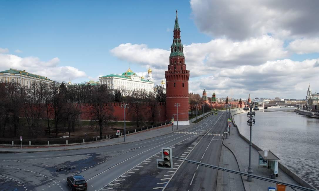 Vista do Rio Moskva, perto do Kremlin, no centro de Moscou Foto: MAXIM SHEMETOV / REUTERS
