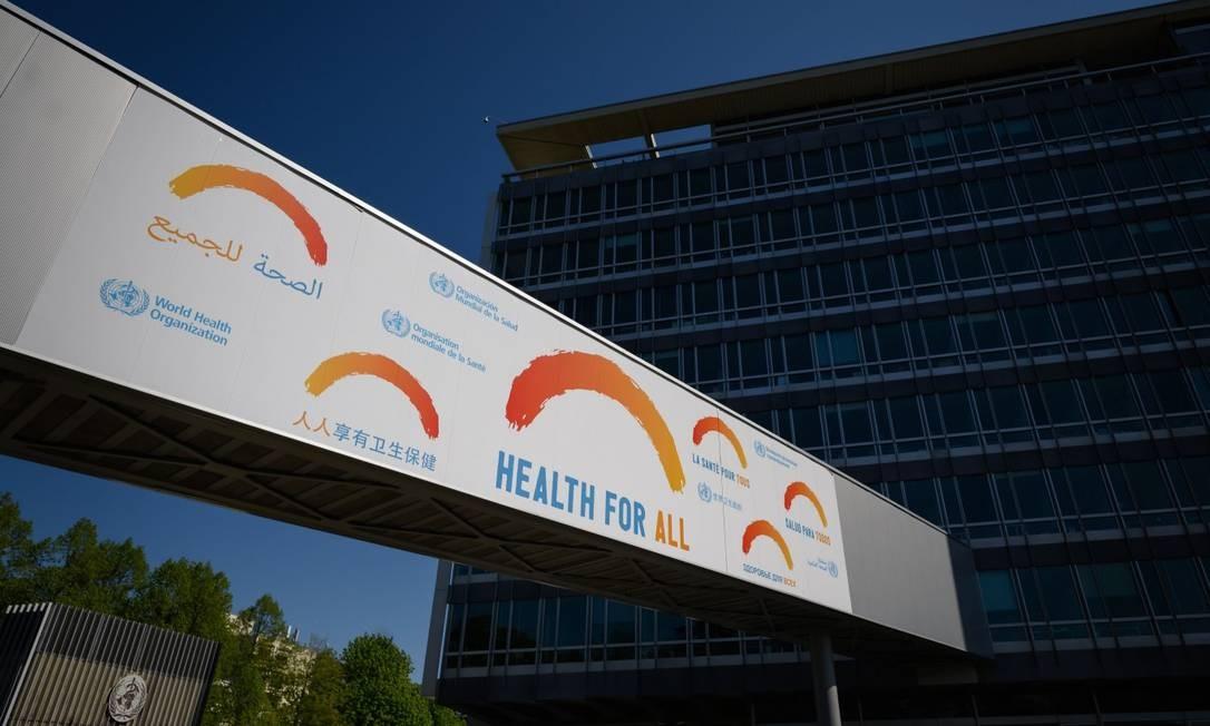 Sede da Organização Mundial da Saúde em Genebra Foto: FABRICE COFFRINI / AFP