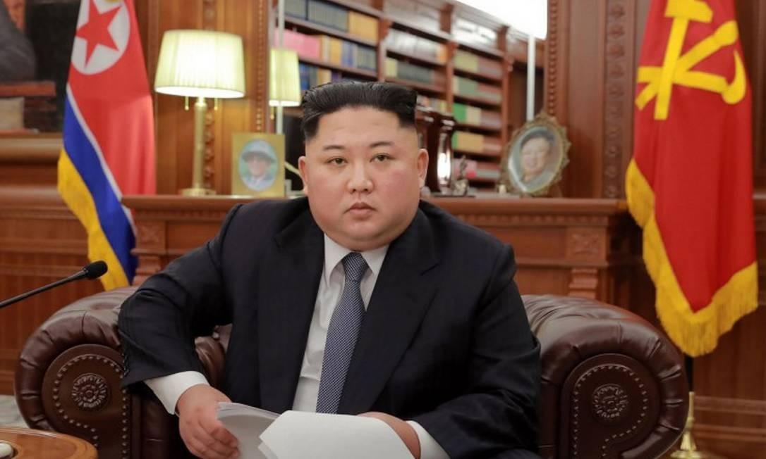 O ditador da Coreia do Norte, Kim Jong Un Foto: KCNA VIA KNS / AFP