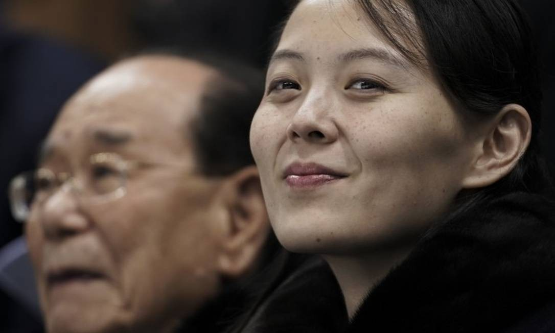 A irmã de Kim Jong-un, Kim Yo-jong, está entre seus possíveis sucessores Foto: Felipe Dana / AP