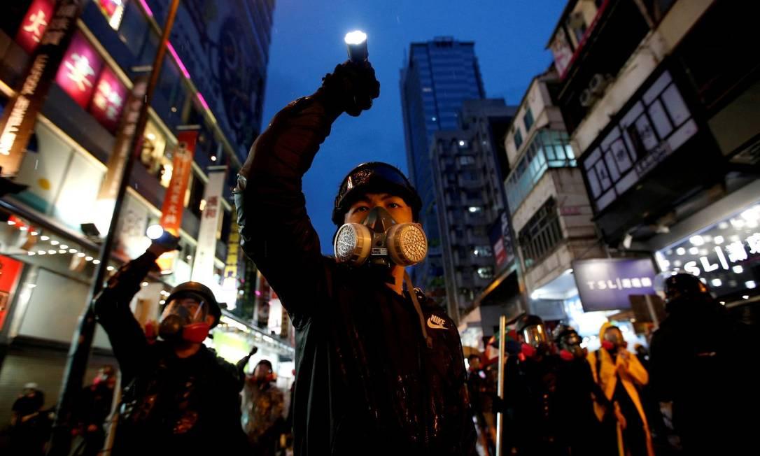 Manifestantes no centro de Hong Kong em agosto de 2019 Foto: Willy Kurniawan / REUTERS