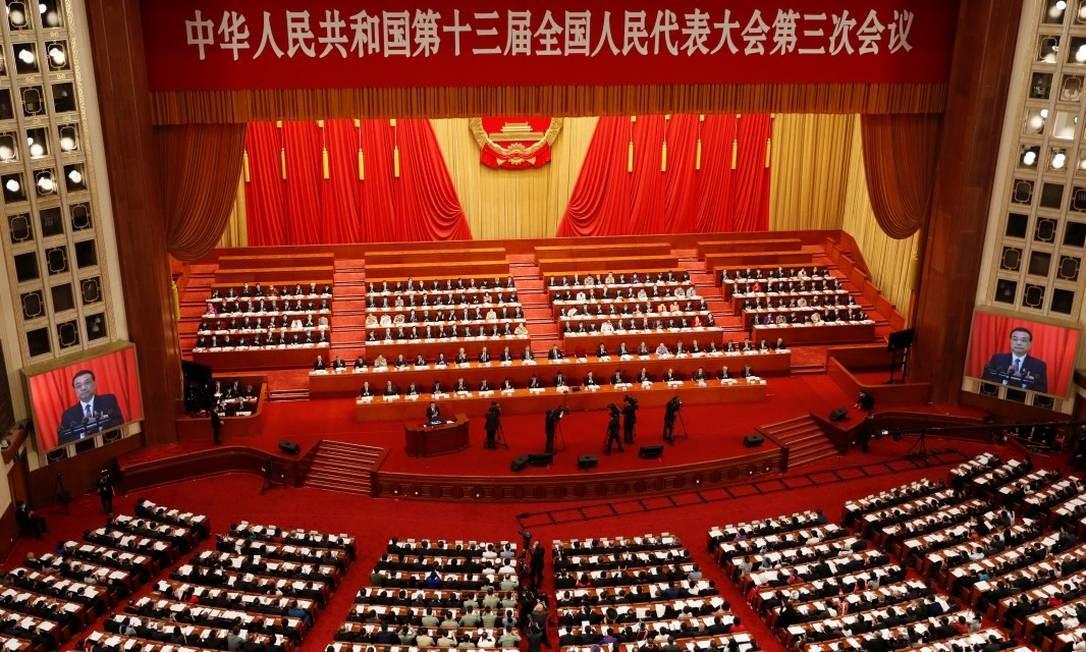 O Congresso Nacional do Povo, na China Foto: CARLOS GARCIA RAWLINS / REUTERS