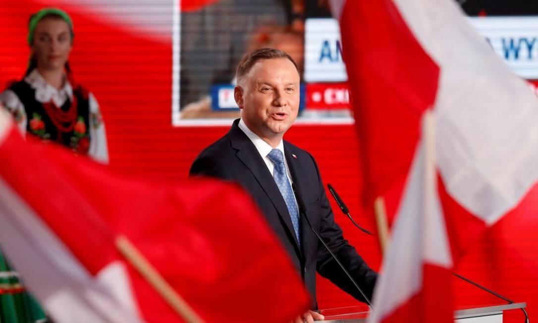 """O presidente da Polônia e candidato à reeleição Andrzej Duda, um representante das """"forças do iliberalismo"""" Foto: Kacper Pempel / REUTERS 28-6-20"""