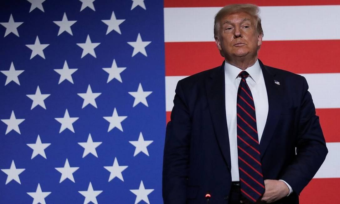 O presidente dos Estados Unidos em um evento em Washington na última quinta-feira Foto: CARLOS BARRIA / REUTERS