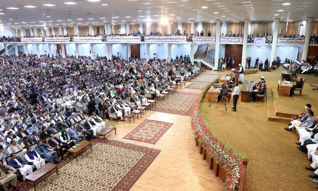 Último dia da Grande Assembleia, ou Loya Jirga, em Cabul Foto: HANDOUT / AFP
