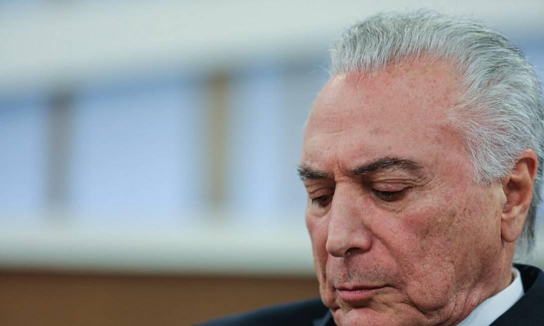 O ex-presidente Michel Temer no programa Roda Viva em setembro de 2019 Foto: Marcello Fim/Zimel Press / Agência O Globo 16-09-19
