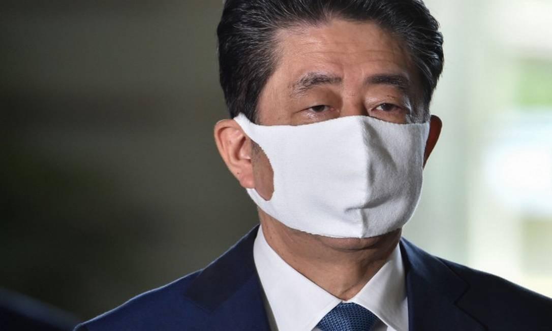 O primeiro-ministro do Japão, Shinzo Abe, que anunciou que irá renunciar Foto: KAZUHIRO NOGI / AFP