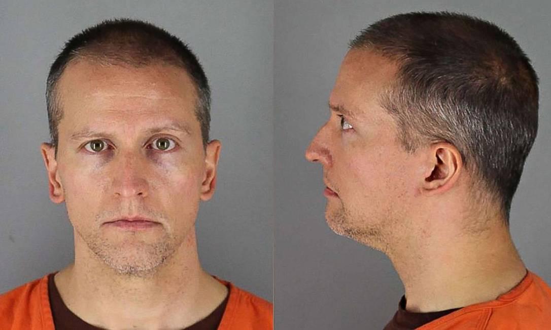 Derek Chauvin, policial que manteve o joelho sobre o pescoço de George Floyd até matá-lo, no cárcere Foto: Reprodução