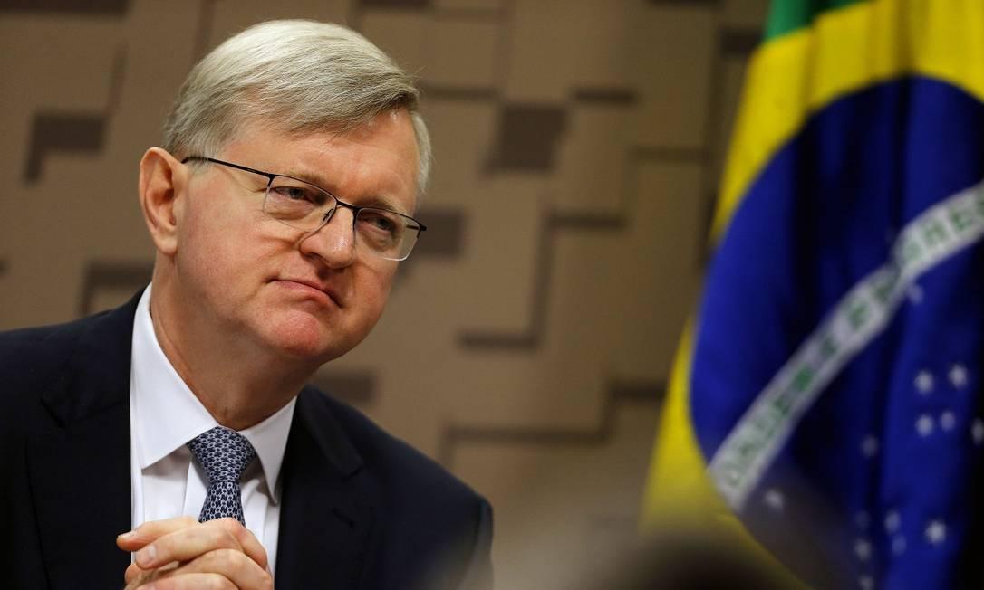 O embaixador brasileiro em Washington, Nestor Forster, em sua sabatina no Congresso Foto: Jorge William / Agência O Globo 13-2-20