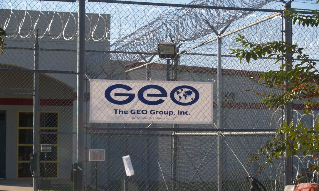 Prisão administrada pelo grupo GEO, que administra prisões federais americanas e será afetado pelo decreto de Biden Foto: Reprodução