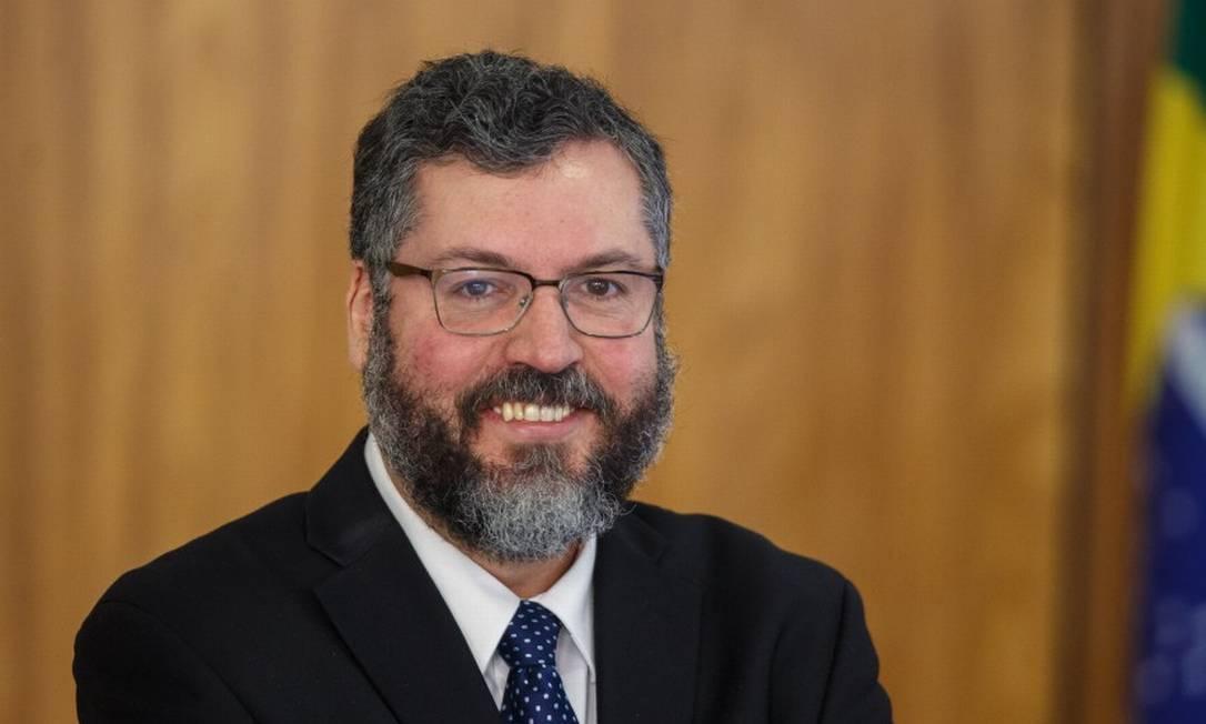 O ministro de Relações Exteriores, agora demissionário, Ernesto Araújo, em março de 2019 Foto: Daniel Marenco / Agência O Globo