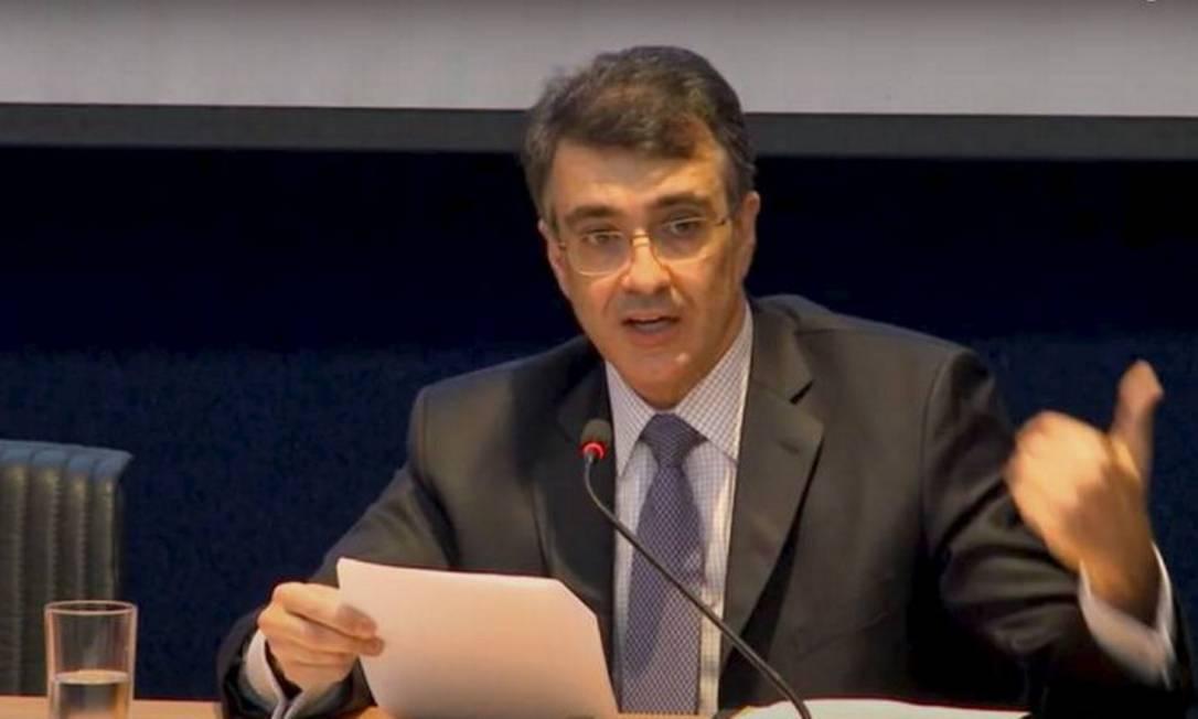 Carlos Alberto França, novo chanceler brasileiro, durante seminário no Itamaraty Foto: Agência O Globo