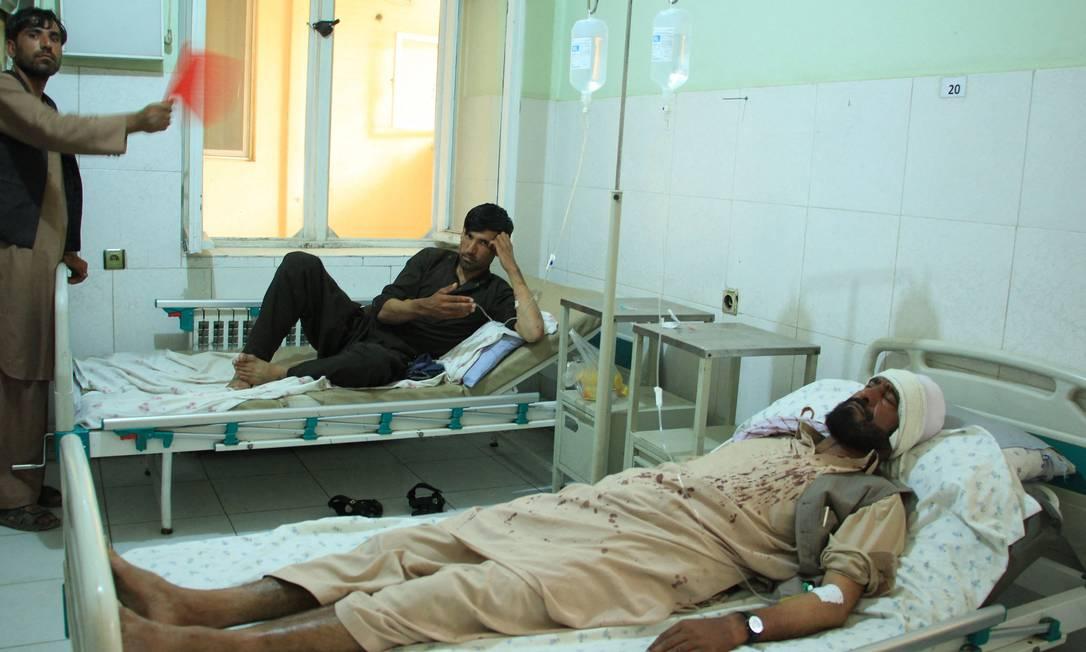 Dez pessoas morreram e 16 ficaram feridas em ataque do Estado Islâmico no Afeganistão Foto: - / AFP