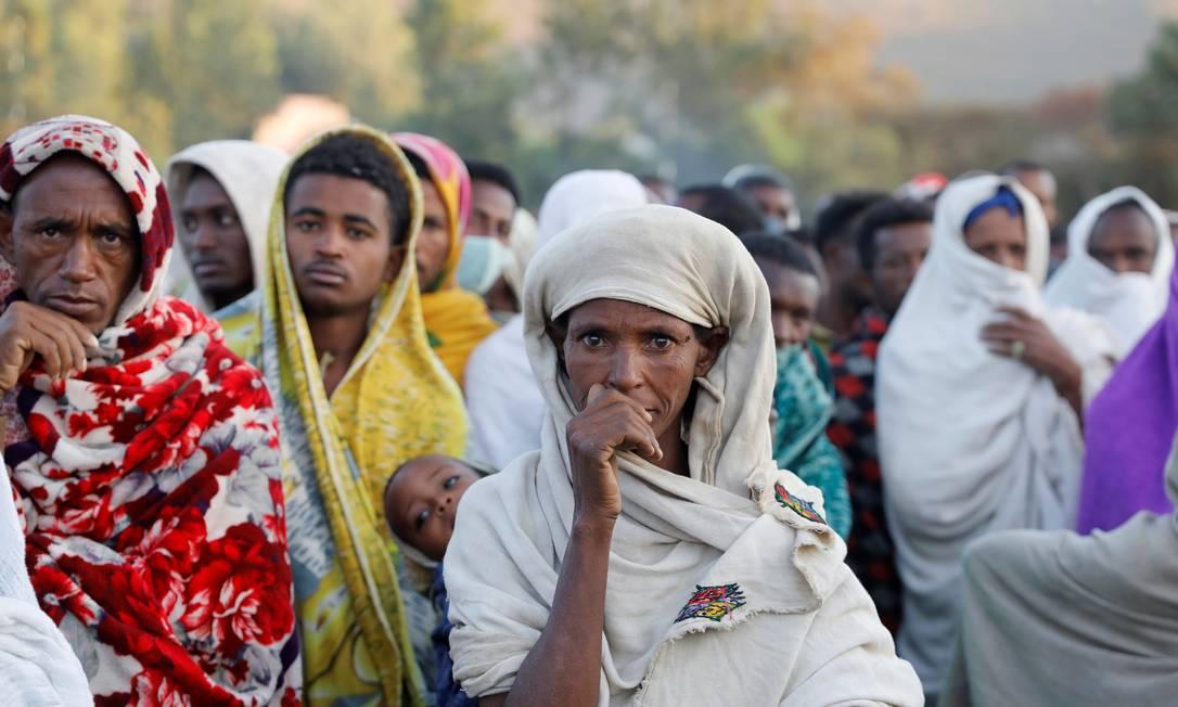 350 mil pessoas da região de Tigré, na Etiópia, estão nível crítico de fome Foto: BAZ RATNER / REUTERS