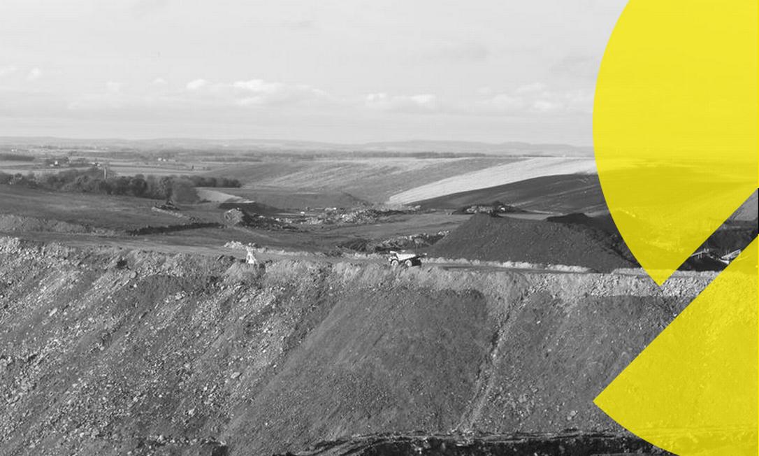 Uma vista das encostas da mina a céu aberto Banks Group Shotton em Northumberland, Inglaterra Foto: REUTERS/Barbara Lewis 11-11-16
