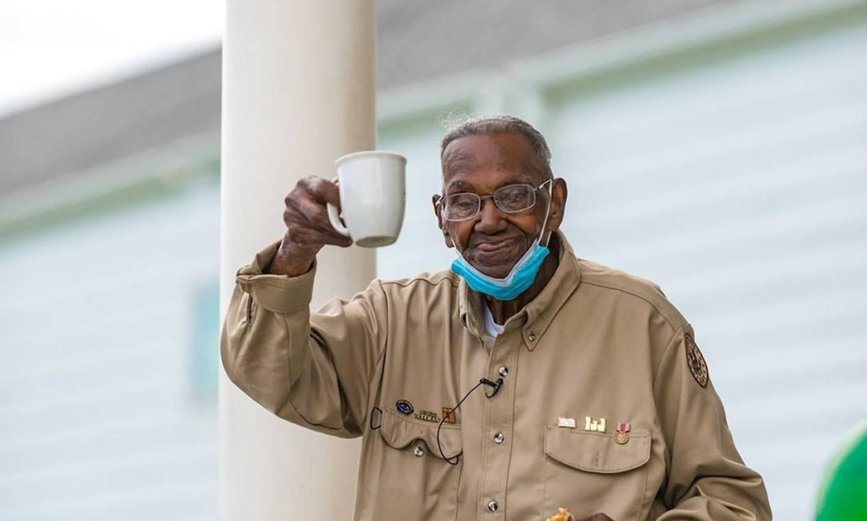 Com 112 anos, Lawrence Brooks é o veterano mais velho a ter defendido os Estados Unidos na Segunda Guerra Mundial. Foto: Museu Nacional da Segunda Guerra Mundial