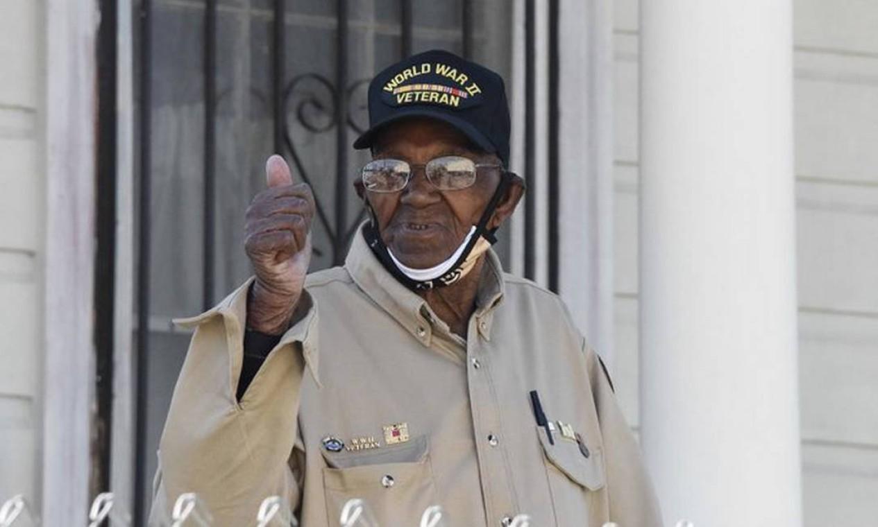 Lawrence Brooks tem 13 netos e 22 bisnetos. Foto: VA New Orleans