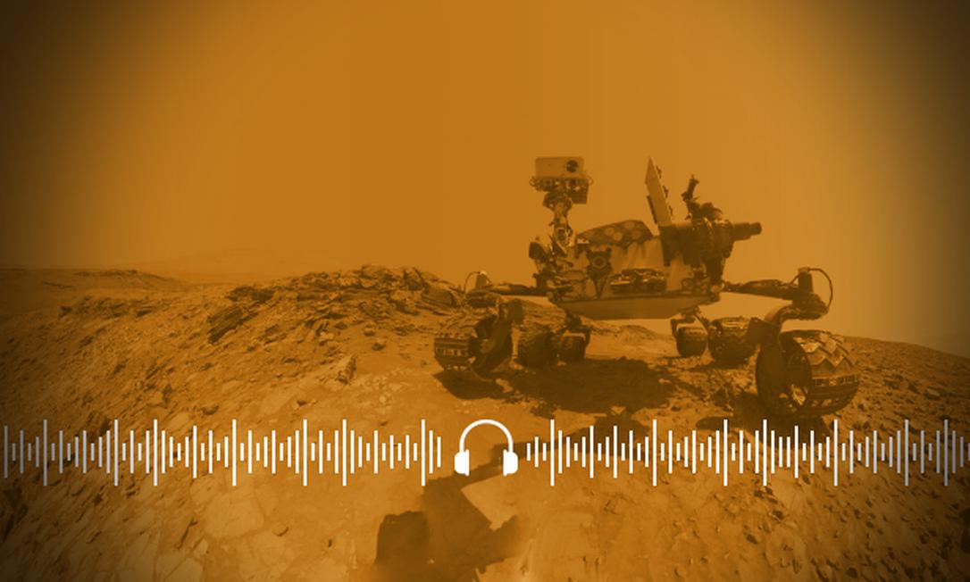 Veículo Curiosity forneceu uma série de informações sobre os antigos reservatórios de água em Marte Foto: Arte