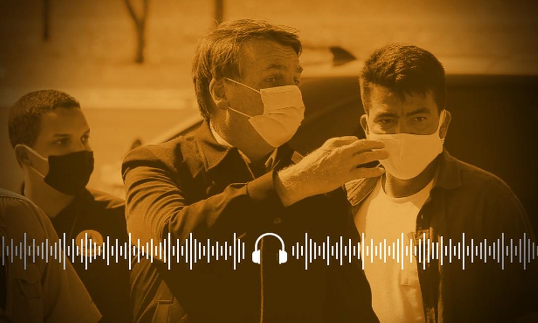 Bolsonaro ameaçou repórter do GLOBO que cobria evento público, no domingo, em Brasília Foto: Arte