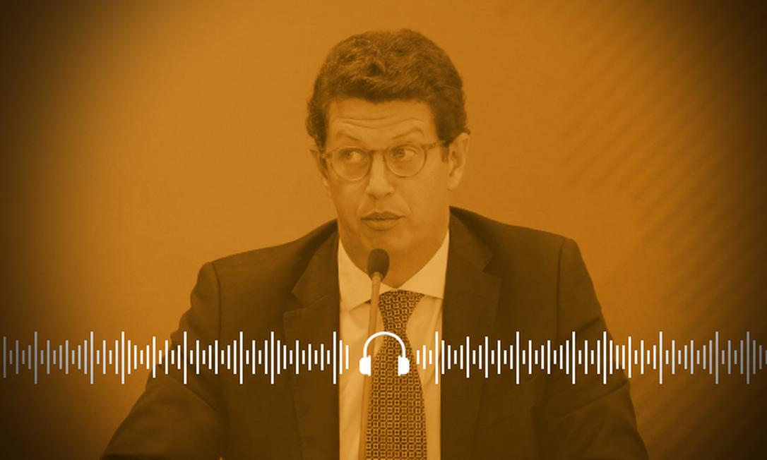 Ministro do Meio Ambiente, Ricardo Salles, é alvo de investigação da PF Foto: SERGIO LIMA / AFP