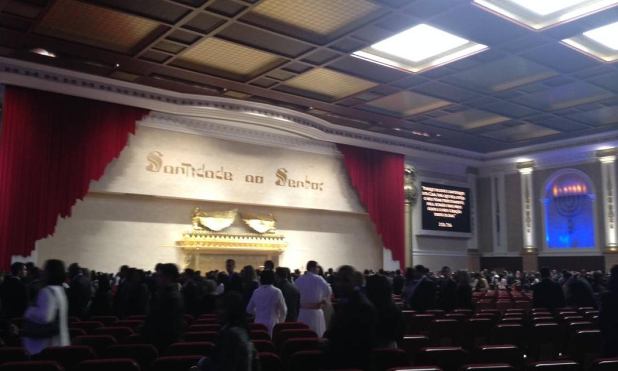 Imagem interna do Templo de Salomão: entrada era restrita a convidados Foto: Renato Onofre