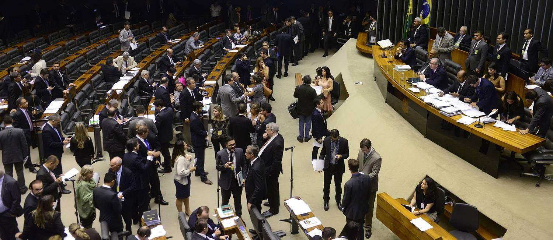 Deputados no plenário de Câmara Foto: Divulgação / Câmara 20/10/2015