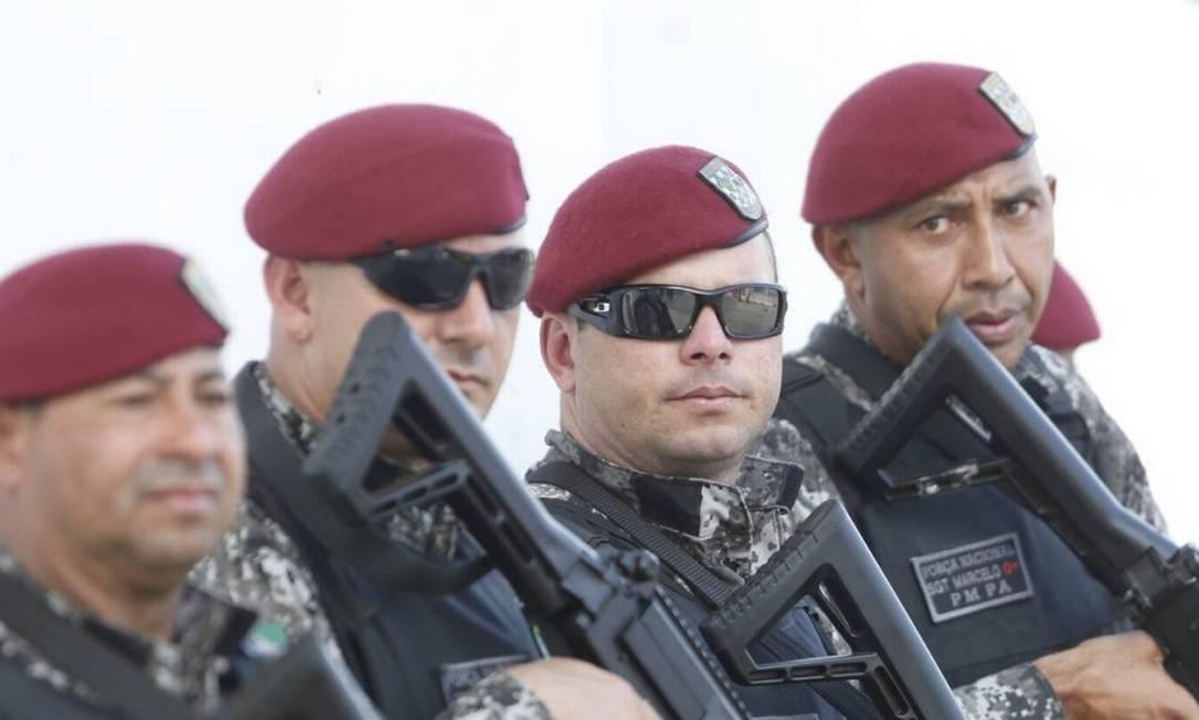 Homens da Força Nacional Foto: Antônio Scorza