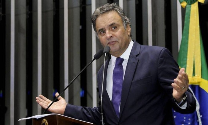 O senador afastado Aécio Neves Foto: Agência Senado