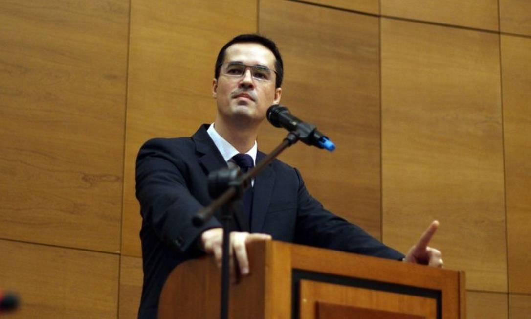 O procurador do Ministério Público Federal da força tarefa da Lava-jato, Deltan Dallagnol em palestra Foto: Lucas Tavares / Agência O Globo