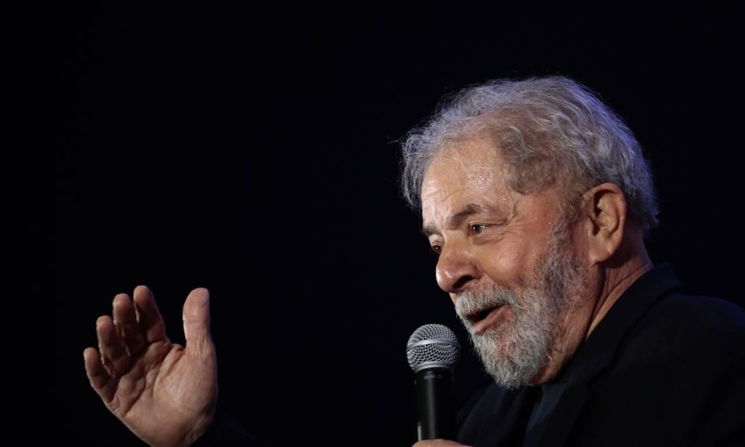 O ex-presidente Luiz Inácio Lula da Silva 19/11/2017 Foto: Jorge William / Agência O Globo