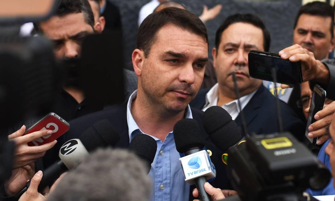O deputado estadual Flávio Bolsonaro Foto: FABIO TEIXEIRA / AFP