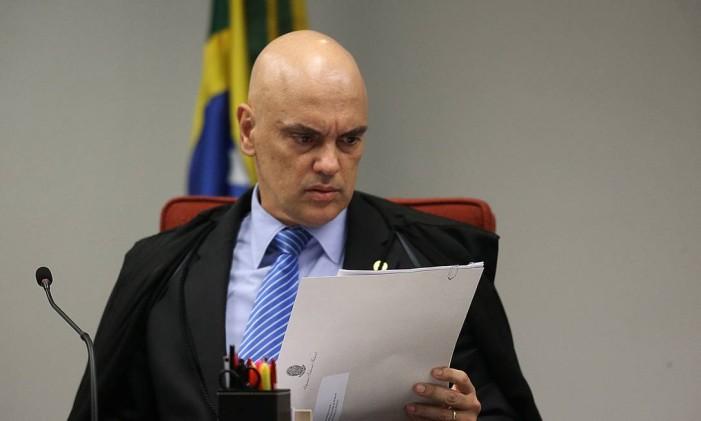 Ministro Alexandre de Moraes durante sessão da Primeira Turma do STF Foto: Ailton de Freitas / Agência O Globo