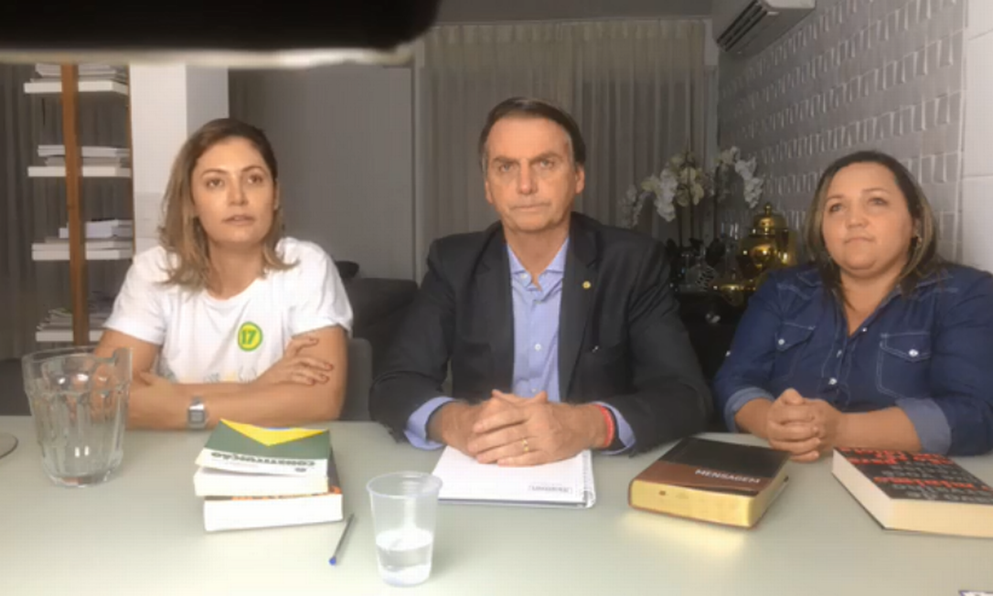 Após vitória nas urnas, Jair Bolsonaro fez uma live nas redes sociais Foto: Reprodução
