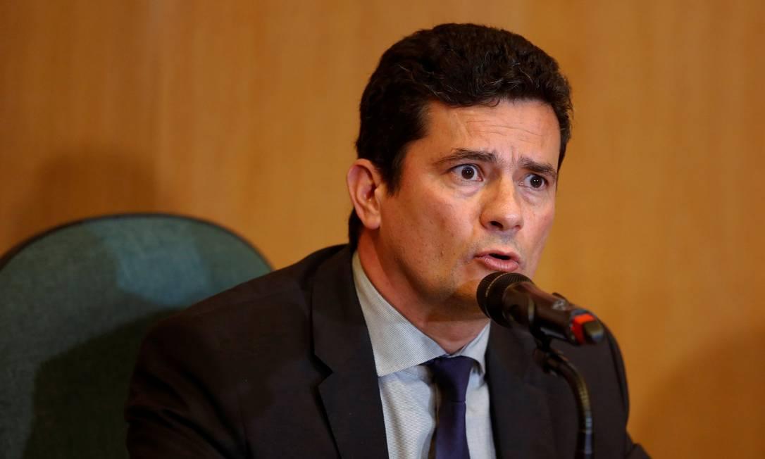 O ex-juiz Sergio Moro durante entrevista em Curitiba Foto: Stringer / Reuters