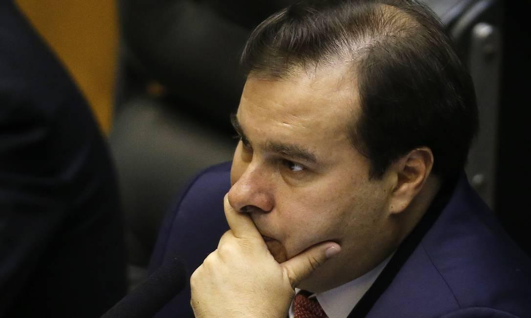 O presidente da Câmara, Rodrigo Maia (DEM-RJ) Foto: Jorge William / Agência O Globo